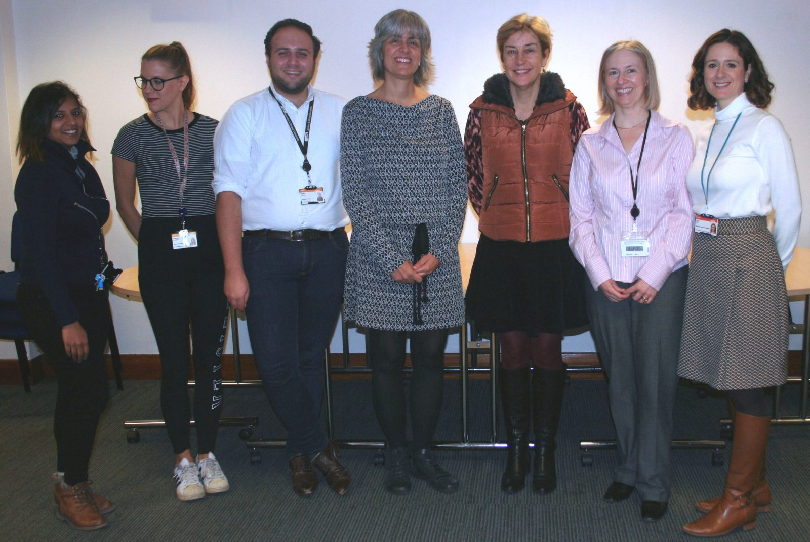 Dr Borges (centre) with members of the Sexual and Reproductive Health Research Team